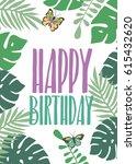 summer aloha party beach poster.... | Shutterstock .eps vector #615432620