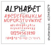 graphic font for your design.... | Shutterstock .eps vector #615443879