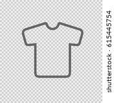 t shirt vector icon eps 10 on... | Shutterstock .eps vector #615445754