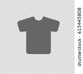 t shirt vector icon eps 10 on... | Shutterstock .eps vector #615445808