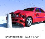 scene to damages of the car | Shutterstock . vector #61544734