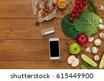 healthy food  grocery online... | Shutterstock . vector #615449900