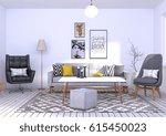 3d rendering of a scandinavian...   Shutterstock . vector #615450023