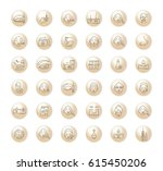 vector graphic set.icons in... | Shutterstock .eps vector #615450206