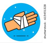 icon for bandaged hand | Shutterstock .eps vector #615451328