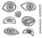 eyes drawing | Shutterstock .eps vector #61545199