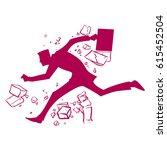 business breakthrough success ... | Shutterstock .eps vector #615452504
