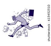 business breakthrough success ... | Shutterstock .eps vector #615452510