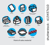 point of sales material and... | Shutterstock .eps vector #615457610