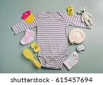 baby accessories background ... | Shutterstock . vector #615457694