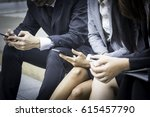 the staff of office  sitting... | Shutterstock . vector #615457790