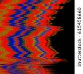 vector rgb television noise...   Shutterstock .eps vector #615458660