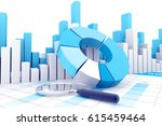Business Graph And Chart. 3d...