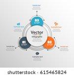 infographic design template can ... | Shutterstock .eps vector #615465824