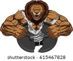 vector illustration of a fierce ... | Shutterstock .eps vector #615467828