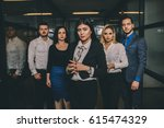 small group of business people... | Shutterstock . vector #615474329