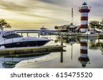 painterly waterscape of marina... | Shutterstock . vector #615475520