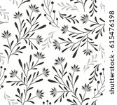 seamless vector floral pattern | Shutterstock .eps vector #615476198