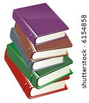 colour books isolated on white... | Shutterstock . vector #6154858