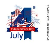 usa 4 july independence day...   Shutterstock .eps vector #615488918