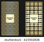 background frame with golden... | Shutterstock .eps vector #615502838
