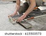 real construction worker...   Shutterstock . vector #615503573