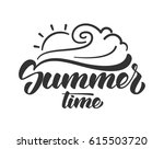 vector illustration  brush... | Shutterstock .eps vector #615503720