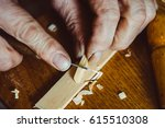 the hands of the craftsmen... | Shutterstock . vector #615510308