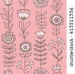 floral seamless pattern. | Shutterstock .eps vector #615511556