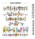easter set for your design.... | Shutterstock .eps vector #615513428