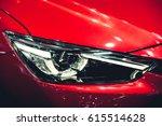 headlight of a modern luxury...   Shutterstock . vector #615514628