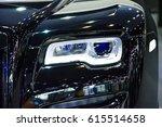 headlight of a modern luxury...   Shutterstock . vector #615514658