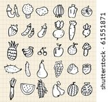 hand draw vegetables | Shutterstock .eps vector #61551871