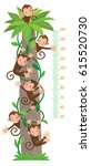 meter wall or kids height chart ... | Shutterstock .eps vector #615520730