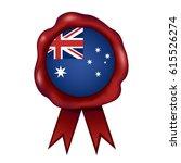 australian wax seal   Shutterstock .eps vector #615526274