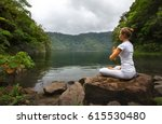 serenity and yoga practicing at ...   Shutterstock . vector #615530480