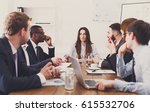 business corporate meeting of...   Shutterstock . vector #615532706
