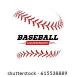 Baseball Ball On White...