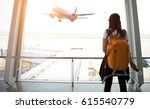 traveler woman plan and... | Shutterstock . vector #615540779