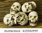 Genocides  Skull On Wooden...