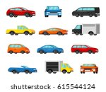 colorful vehicles collection.... | Shutterstock .eps vector #615544124