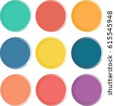 drawn circles vector background ... | Shutterstock .eps vector #615545948
