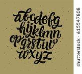 vector hand drawn alphabet.... | Shutterstock .eps vector #615547808