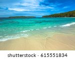 hyams beach in jervis bay... | Shutterstock . vector #615551834