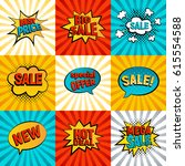 sales icons vector set. big ... | Shutterstock .eps vector #615554588