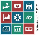 financial icons set. set of 9... | Shutterstock .eps vector #615559289