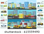 transport evacuation... | Shutterstock .eps vector #615559490