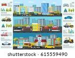 transport evacuation... | Shutterstock .eps vector #615559490