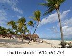 playa del carmen  mexico  ... | Shutterstock . vector #615561794