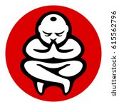 yoga zen meditation icon.... | Shutterstock .eps vector #615562796